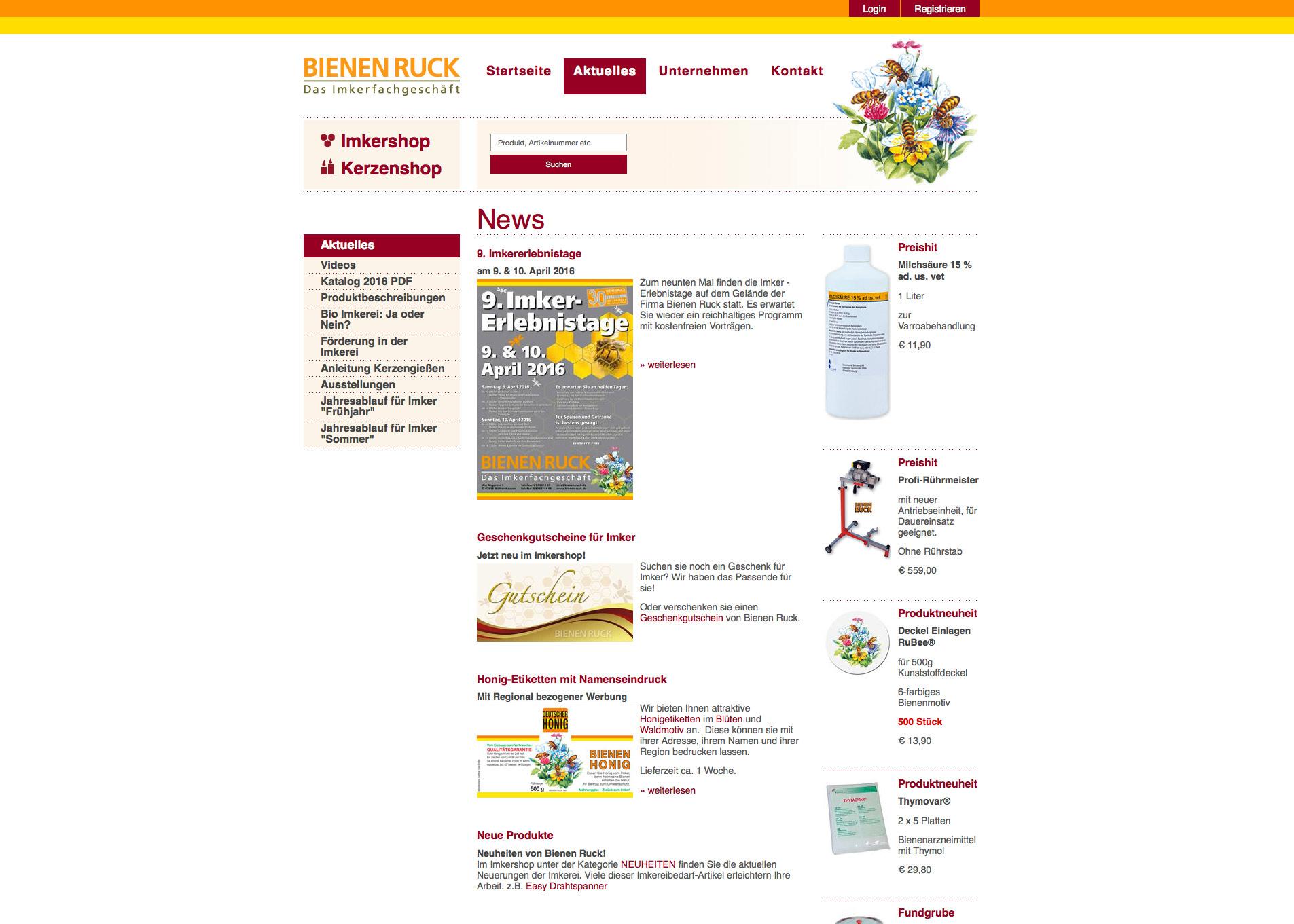 Bienen Ruck Gmbh Webshop Bytebetrieb